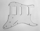 Scratchplate for Fender Strat HSS 3- Ply White  8292H/WH